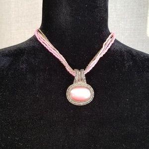Park Lane Beaded Pink Boho Necklace